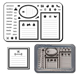 Maya Road Clear Stamp Set - Journaling Notes