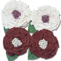 Maya Road - Trinket Blossoms -Medallion Blossoms Cream & Brown Flower