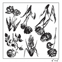 Maya Road - Clear Stamp - Ornate Botanicals Stamp Set