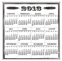Maya Road - Clear Stamp - Vintage 2013 Calendar