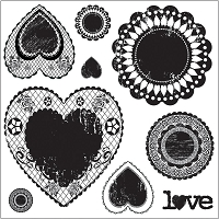 Maya Road - Clear Stamp - Antique Love Doilies