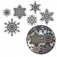 Maya Road - Sheers - Snowflake Transparencies - Black