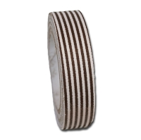 Maya Road Fabric Tape - Stripes - Mocha Brown