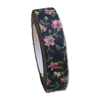 Maya Road Fabric Tape - Rose BLossoms - Midnight Blue