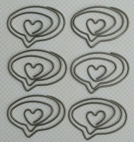 Maya Road Metal Trinkets - Love Speech Bubble Clips :)