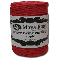 Maya Road - Paper Twine Cording - Apple Red