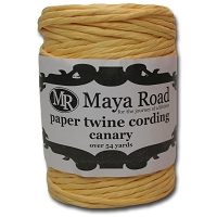 Maya Road - Paper Twine Cording - Canary Yellow