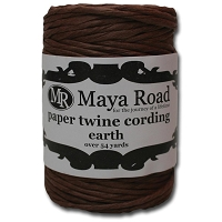 Maya Road - Paper Twine Cording - Earth Brown