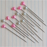 Maya Road - Trinket Pins - Pearl & Hot Pink Heart(60)