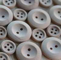 Maya Road Trinkets - Wood Round Buttons