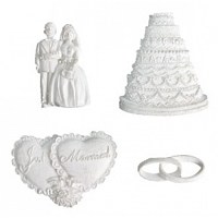 Melissa Frances - Embellishments Resin - I Thee Wed Set (4 pcs)