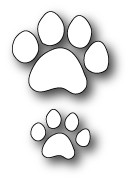 PoppyStamps - Die - Kitty Paw Prints
