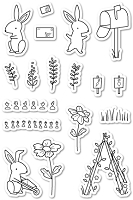 PoppyStamps - Clear Stamp Set - Hop to It