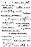PoppyStamps - Clear Stamp Set - Into the Words