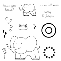 Memory Box-Medium Clear Stamp Set-All Ears