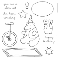 Memory Box-Medium Clear Stamp Set-High Wire Bear