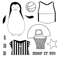Memory Box-Medium Clear Stamp Set-Hoop Penguin