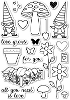 Memory Box - Open Studio Clear Stamp Sets - Love Grows clear stamp set