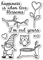 Memory Box - Open Studio Clear Stamp Sets - I'm Owl Yours clear stamp set