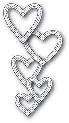 Memory Box - Die - Classic Double Stitched Heart Rings