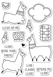Memory Box - Open Studio Clear Stamp Sets - Llama Love clear stamp set