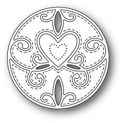 Memory Box - Die - Scroll Heart Circle