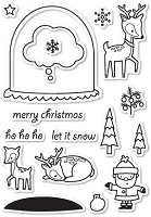 Memory Box - Open Studio Clear Stamp Set - Snowglobe Wishes Clear Stamp Set