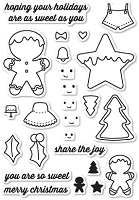 Memory Box - Open Studio Clear Stamp Set - Frosted Christmas Clear Stamp Set