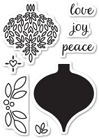 Memory Box - Open Studio Clear Stamp Set - Delightful Ornament Clear Stamp Set
