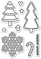 Memory Box - Open Studio Clear Stamp Set - Christmas Cookies Clear Stamp Set