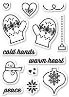 Memory Box - Open Studio Clear Stamp Set - Warm Heart Clear Stamp Set