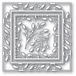Memory Box - Die - Elegant Holly Double Frame