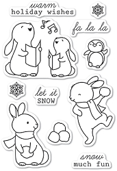 Memory Box - Open Studio Clear Stamp Set - Snow Much Fun