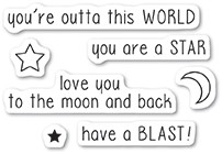 Memory Box - Clear Stamp - Outta This World clear stamp set
