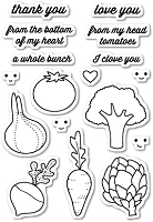 Memory Box - Open Studio Clear Stamp Sets - Veggie Good