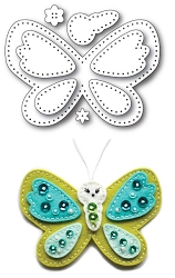 Memory Box - Die - Plush Cute Butterfly