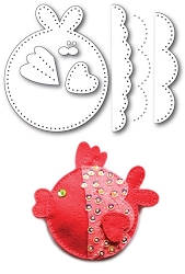 Memory Box - Die - Plush Funny Fish
