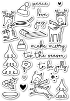 PoppyStamps - Clear Stamp Set - Holiday Hoopla