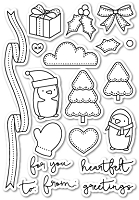 PoppyStamps - Clear Stamp Set - You Keep Me in Stitches