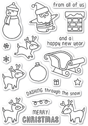 Memory Box - Open Studio Clear Stamp Sets - Dashing with Reindeer