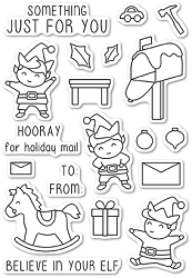 Memory Box - Open Studio Clear Stamp Sets - Christmas Elves