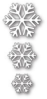 Poppy Stamps - Die - Classic Snowflake Trio