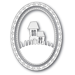 Memory Box - Die - Haunted Hill Oval Frame