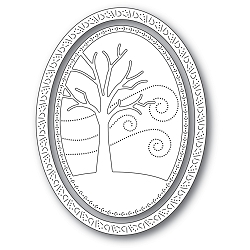 Memory Box - Die - Winter Tree Oval Frame