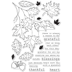 Memory Box - Clear Stamp - Grateful Autumn clear stamp set