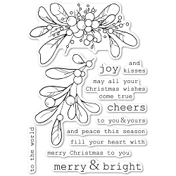 Memory Box - Clear Stamp - Merry and Bright Mistletoe clear stamp set