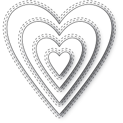 Memory Box - Die - Double Stitch Happy Heart Cut Out