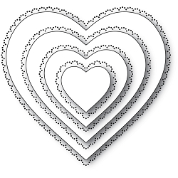 Memory Box - Die - Scallop Pinpoint Loving Heart Cut Out