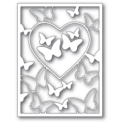 Memory Box - Die - Butterfly Heart Frame