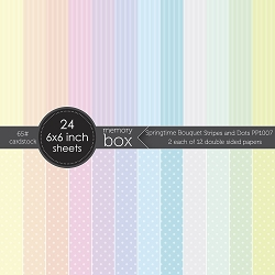 Memory Box - Springtime Bouquet Stripes and Dots 6x6 pack